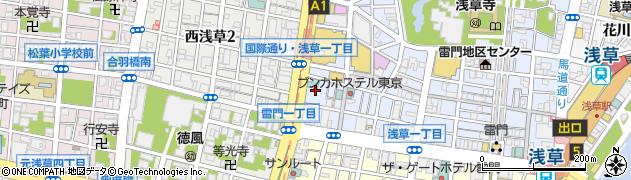 東京都台東区浅草1丁目11周辺の地図