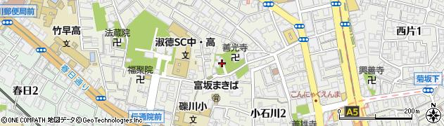 沢蔵司稲荷周辺の地図
