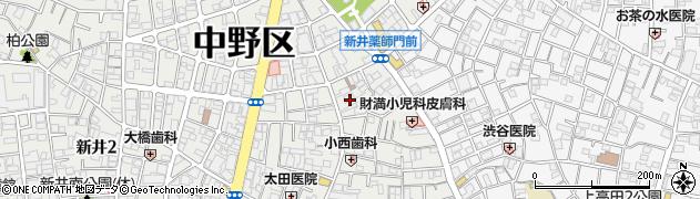 東京都中野区新井周辺の地図