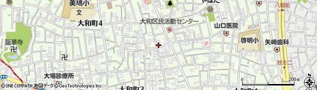 東京都中野区大和町周辺の地図