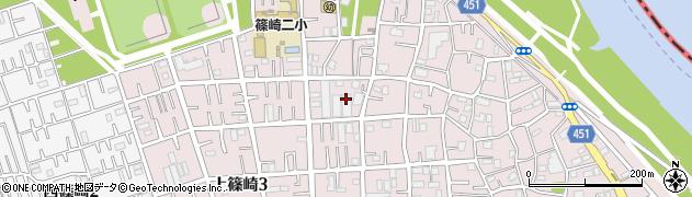 東京都江戸川区上篠崎周辺の地図