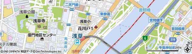 東京都台東区花川戸周辺の地図