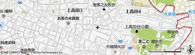 東京都中野区上高田周辺の地図