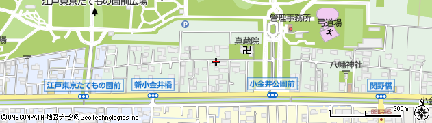 東京都小金井市関野町周辺の地図