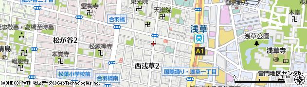 東京都台東区西浅草周辺の地図