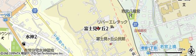 山梨県韮崎市富士見ケ丘周辺の地図