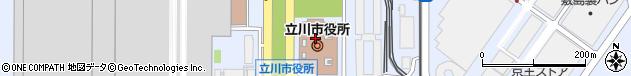 東京都立川市周辺の地図