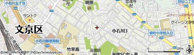 東京都文京区小石川周辺の地図