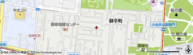 東京都小平市御幸町周辺の地図