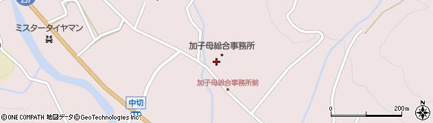 岐阜県中津川市加子母周辺の地図