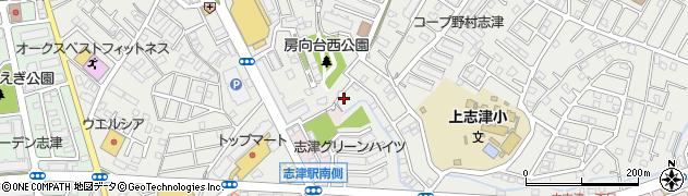 千葉県佐倉市上志津周辺の地図