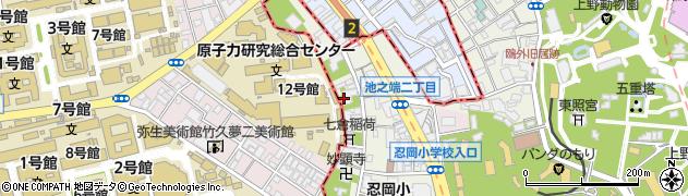 忠綱寺周辺の地図
