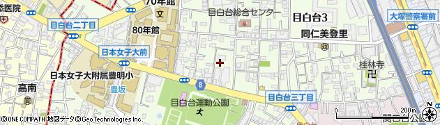 東京都文京区目白台周辺の地図