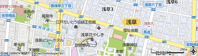 東京都台東区浅草周辺の地図