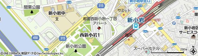 都営西新小岩一丁目アパート周辺の地図