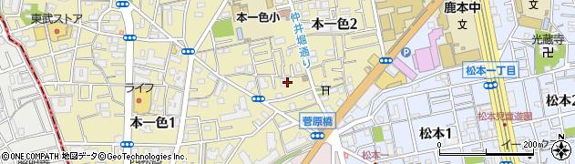 東京都江戸川区本一色2丁目周辺の地図
