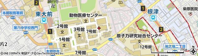 東京都文京区弥生周辺の地図