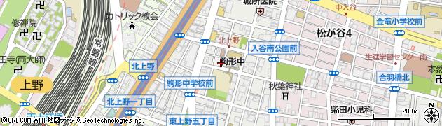 東京都台東区北上野周辺の地図