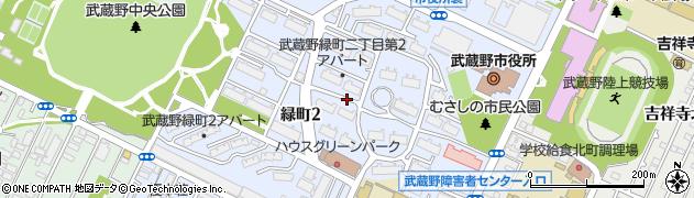 東京都武蔵野市緑町周辺の地図