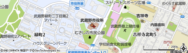 東京都武蔵野市周辺の地図