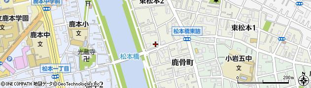 東京都江戸川区東松本周辺の地図