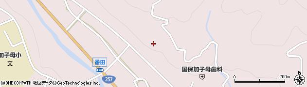 岐阜県中津川市加子母(中切)周辺の地図