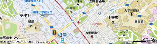 天眼弾寺周辺の地図