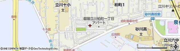 都営柏町一丁目アパート周辺の地図