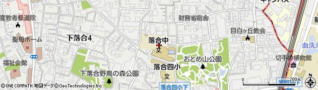 東京都新宿区下落合周辺の地図