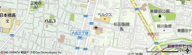 墨田区 社会福祉会館周辺の地図