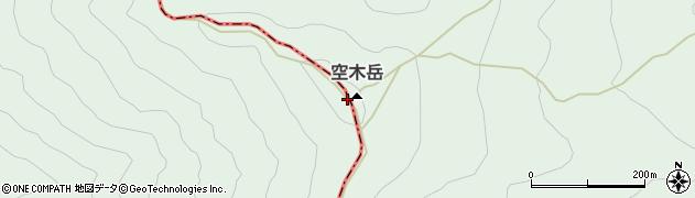 空木岳周辺の地図