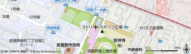 武蔵野市立武蔵野プール周辺の地図