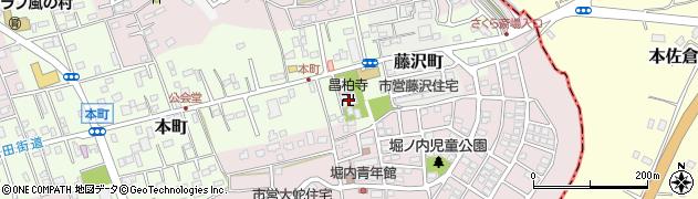 昌柏寺周辺の地図