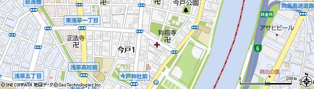 東京都台東区今戸周辺の地図