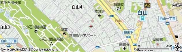 東京都文京区白山周辺の地図