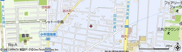 東京都小平市回田町周辺の地図