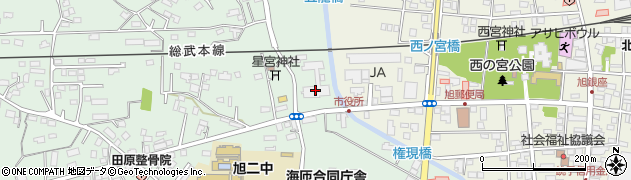 千葉県旭市周辺の地図