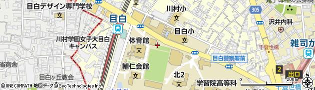 東京都豊島区目白周辺の地図