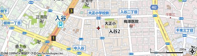 東京都台東区入谷周辺の地図