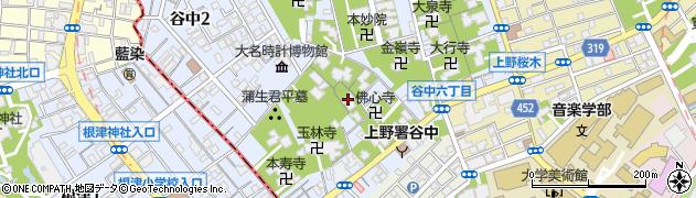 長運寺周辺の地図