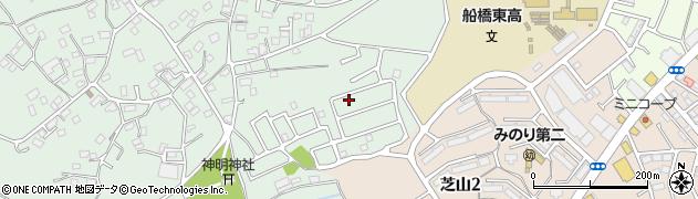 千葉県船橋市高根町周辺の地図