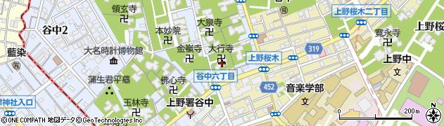 大行寺周辺の地図