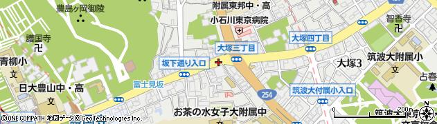 東京都文京区大塚周辺の地図