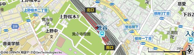 東京都台東区周辺の地図