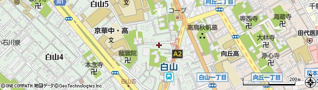 東京都文京区白山5丁目周辺の地図