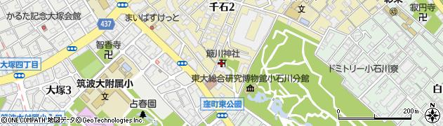 簸川神社周辺の地図