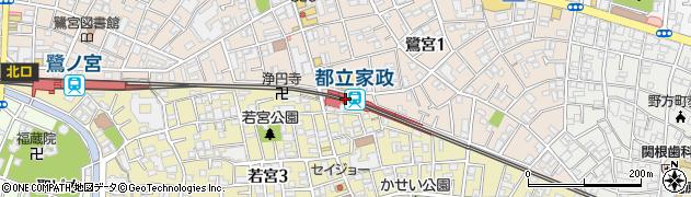 東京都中野区周辺の地図