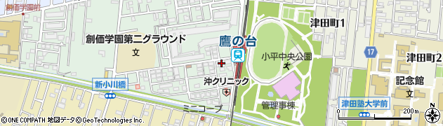 東京都小平市たかの台周辺の地図