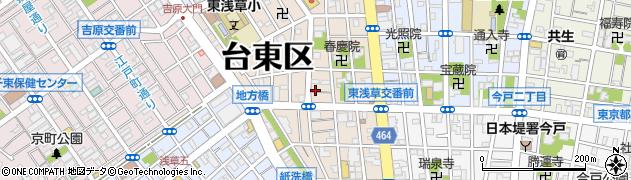 東京都台東区東浅草周辺の地図