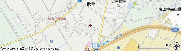 千葉県旭市後草3298周辺の地図
